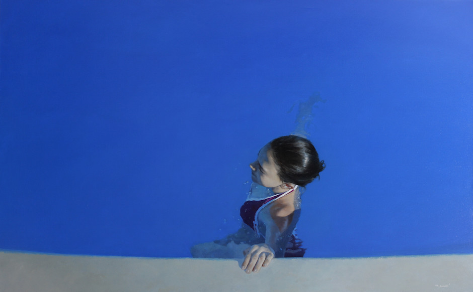 Júlia en blau · 100x160cm · oil on canvas