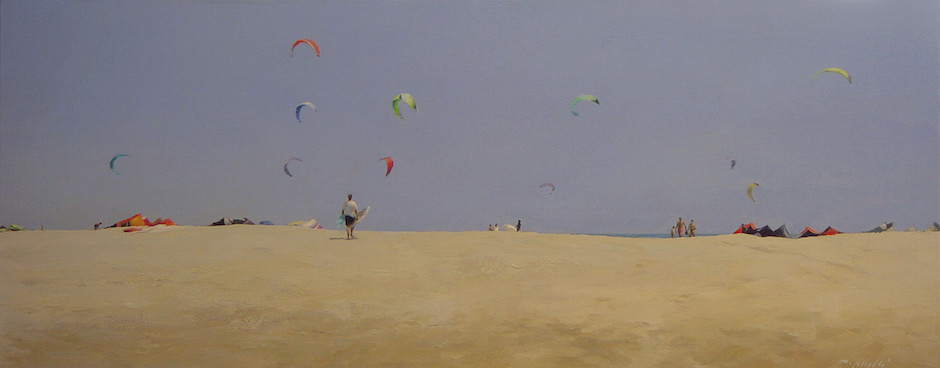 Kiters · 40x100cm · oil on canvas